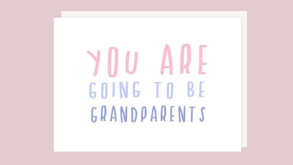 A digital card for grandparents.