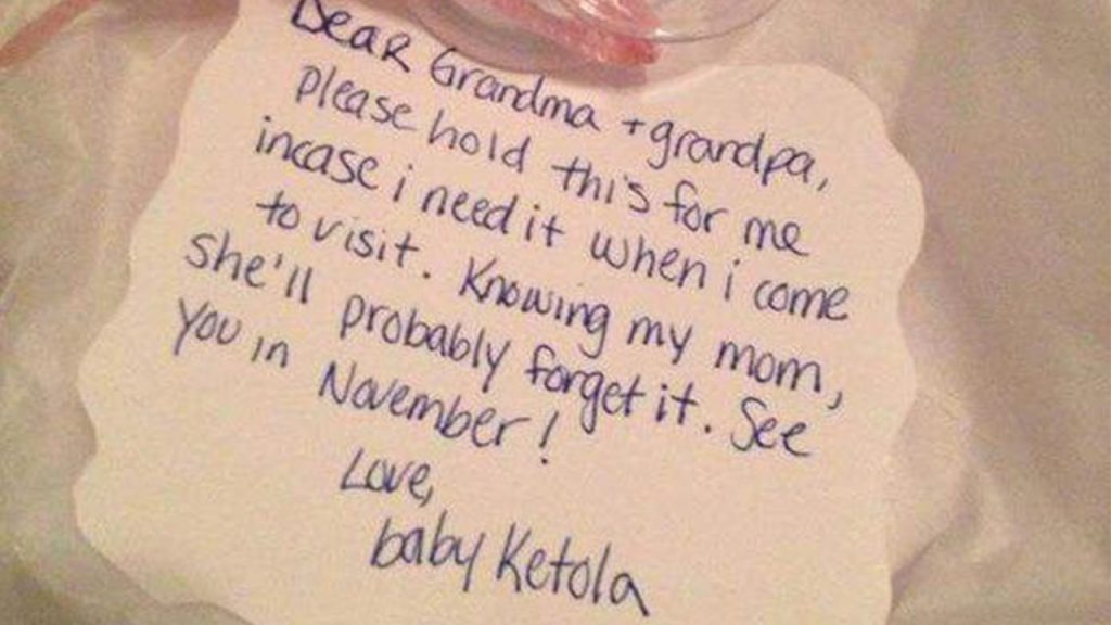 A note to grandparents.