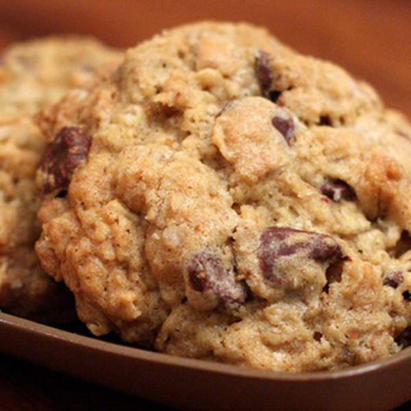 Oatmeal Flax Chocolate Chip Cookies