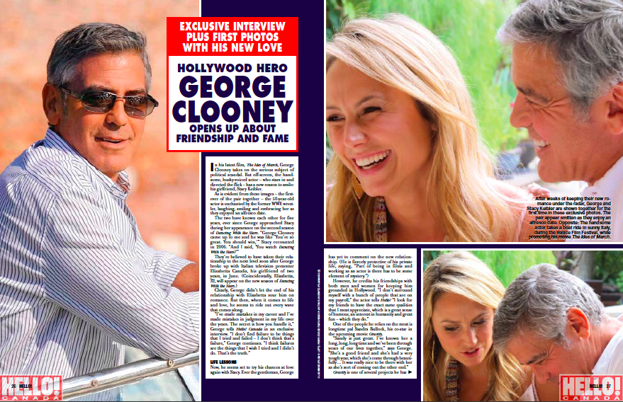 George Clooney Amp Stacy Keibler Exclusive Pics Today S