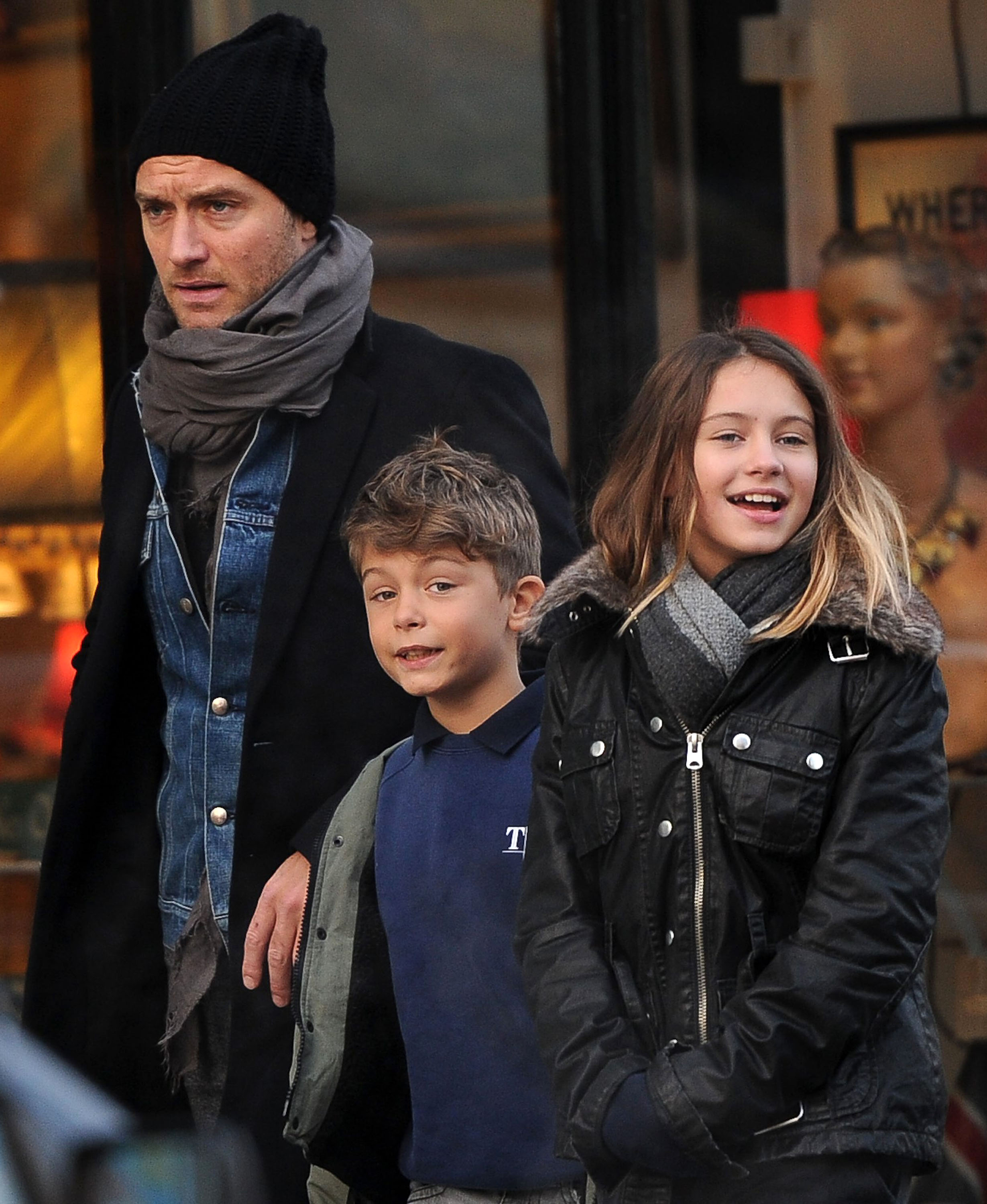 Jude Law takes the kid...