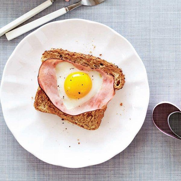 Heart-Shaped Egg in a Hole