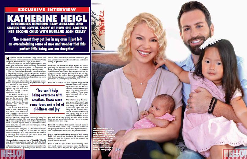 Katherine Heigl Opens Up About Adopting Adalaide - Today's ...