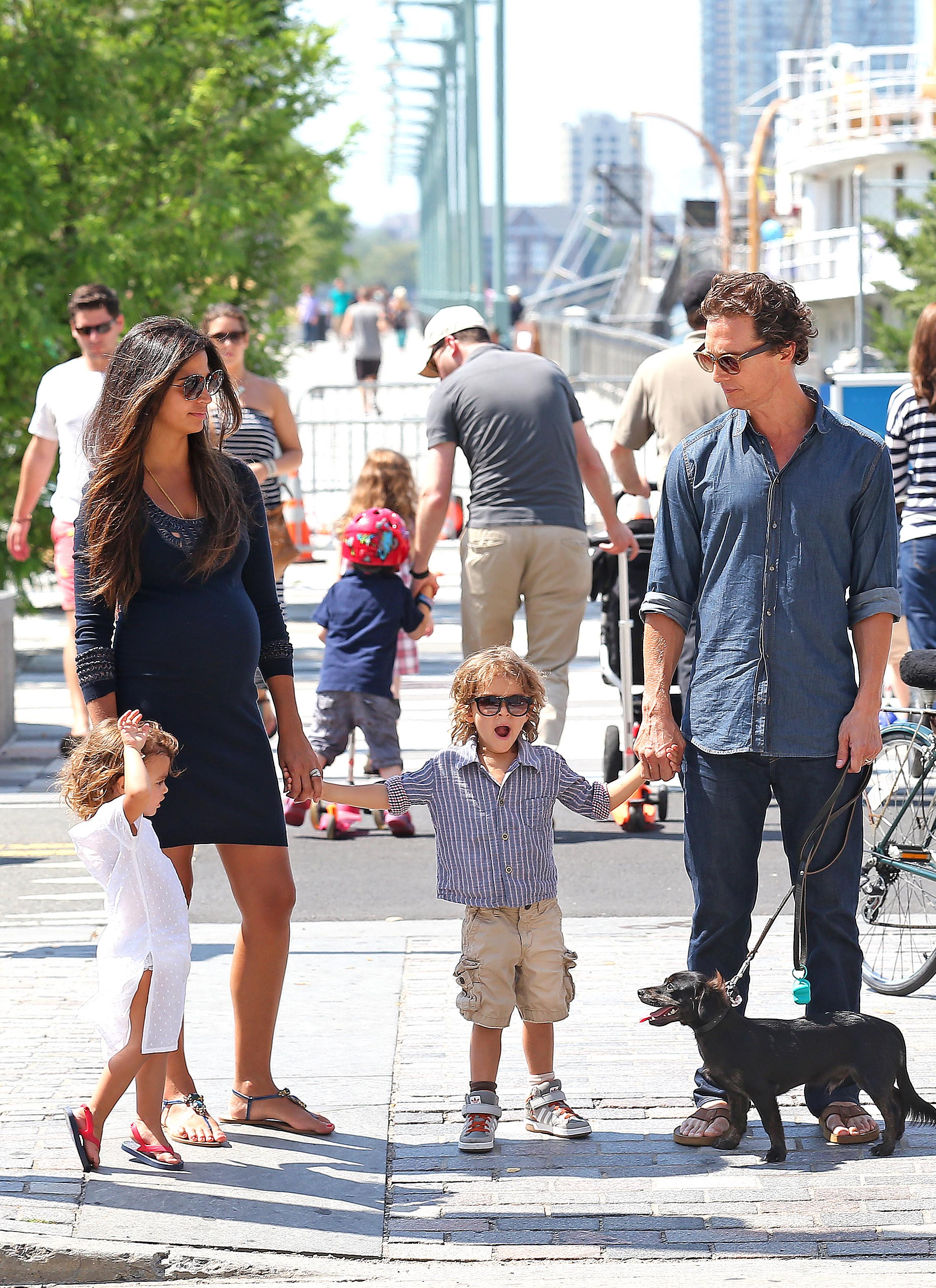 Matthew Mcconaughey Pregnant Camila Alves The Kids And