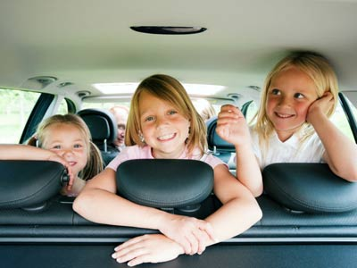 is watching movies in the car harmful for your kids