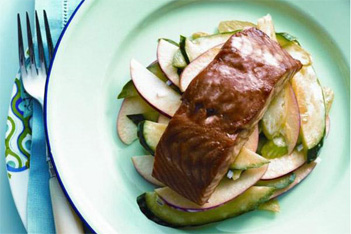 Hoisin-Glazed Salmon with Crunchy Apple Salad