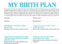 birth plan checklist