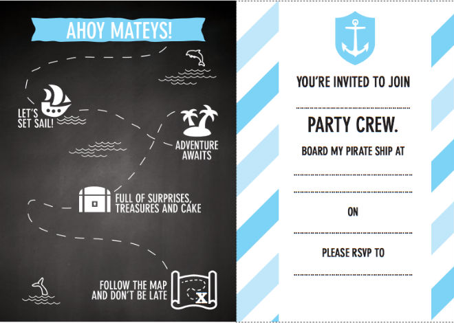 photo regarding Pirate Party Printable known as Absolutely free printable pirate bash invites - Todays Dad or mum