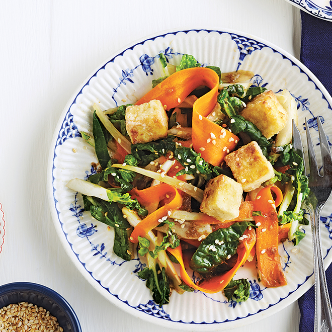 Shaved Carrot, Fennel and Bok Choy Salad