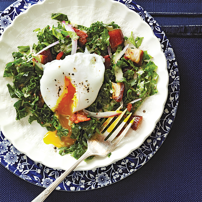 Kale Salad with Bacon and Dates