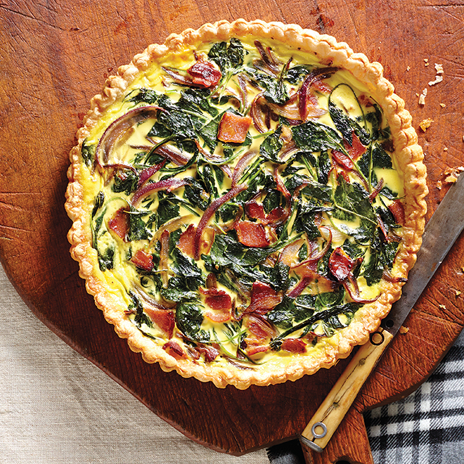 Quick Kale and Bacon Tart