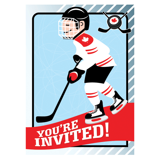 Hockey party invitation printable todays parent download and print our hockey party printable on card stock on the back of the invitation provide the date time and location of the birthday party filmwisefo