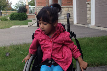 Seeing my daughter in a wheelchair makes me happy