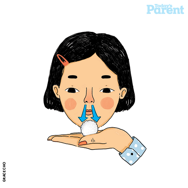 How to teach your child to blow her nose