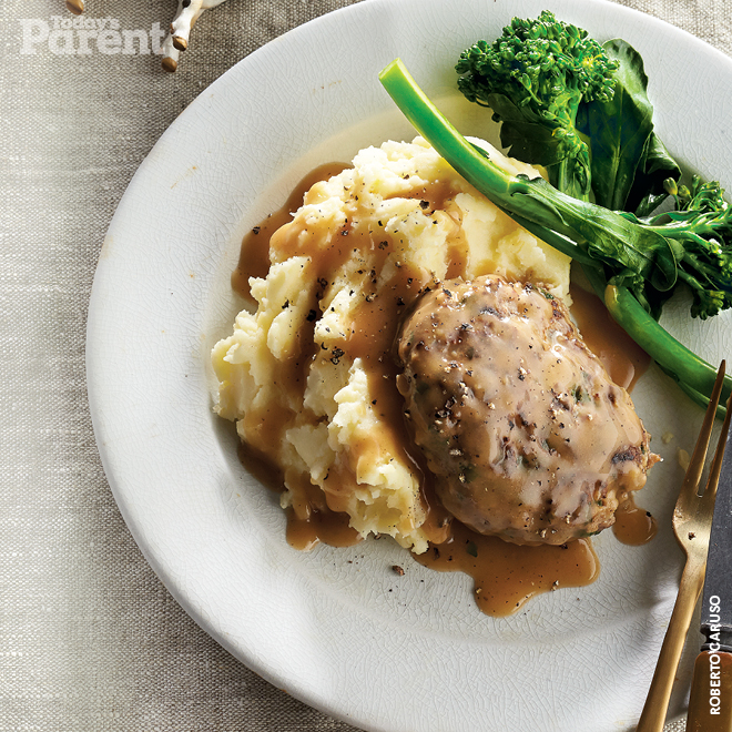 Salisbury Steak with Roasted-Garlic Mash
