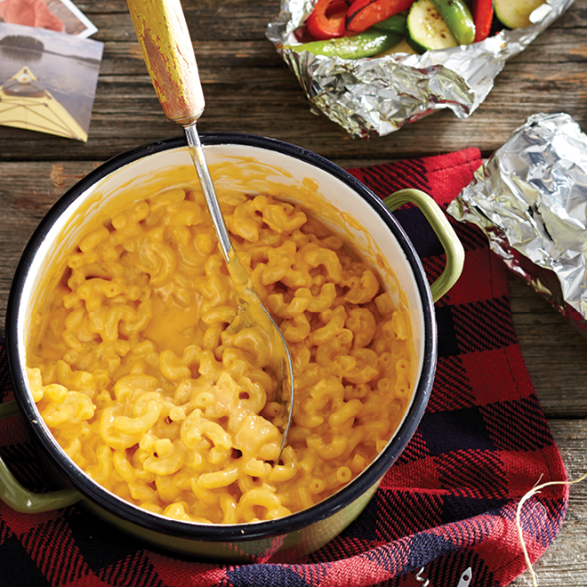 10 Camping Recipes And Ideas For Cooking Around The Campfire: One-Pot Mac And Cheese