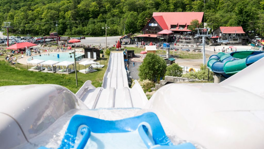 View of the park from the top of a waterslide