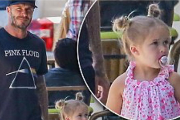 David Beckham attacked because four-year-old Harper uses pacifier