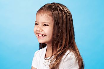 kids' hair how to do a waterfall braid  today's parent