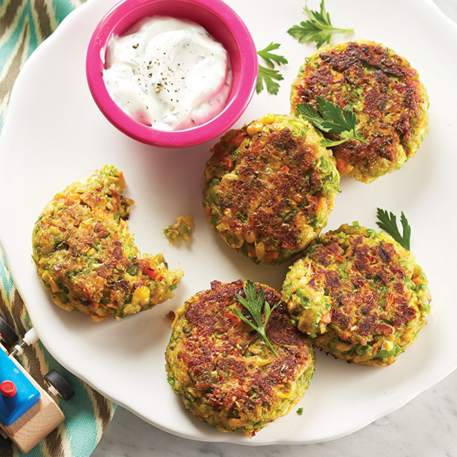 Bacon, Cheese & Veggie Fritters