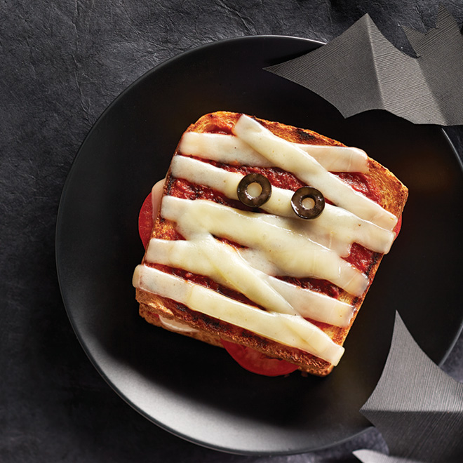 Mummy Pizza Grilled Cheese