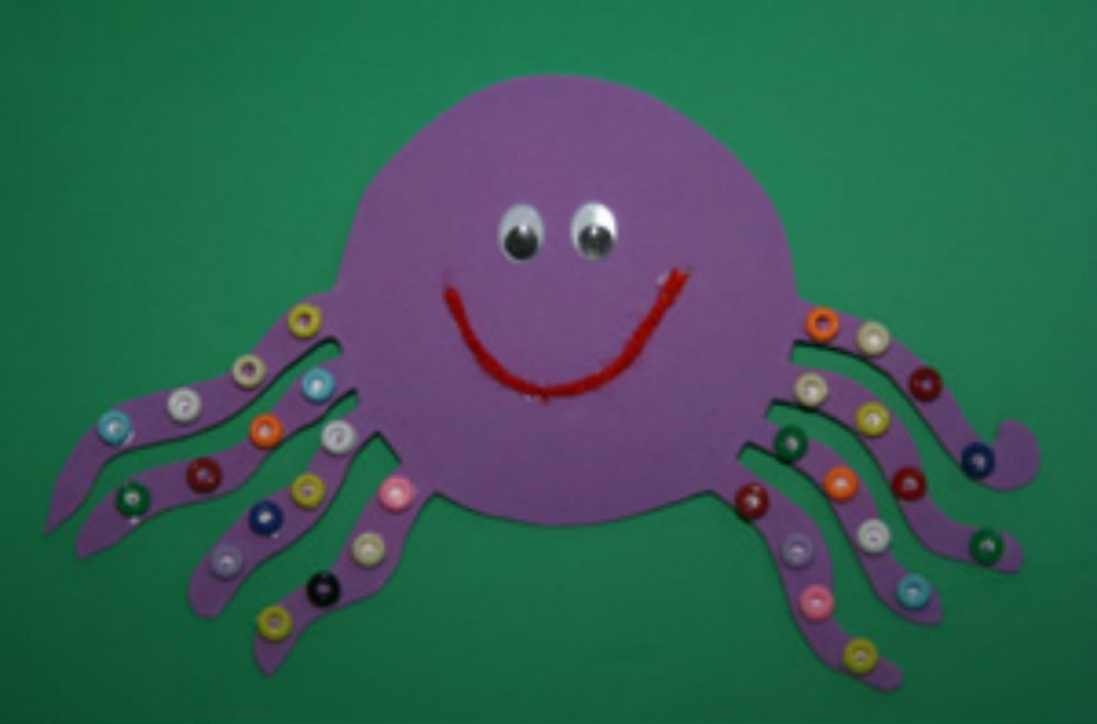 7 easy button crafts for kids today 39 s parent for Octopus craft for preschool