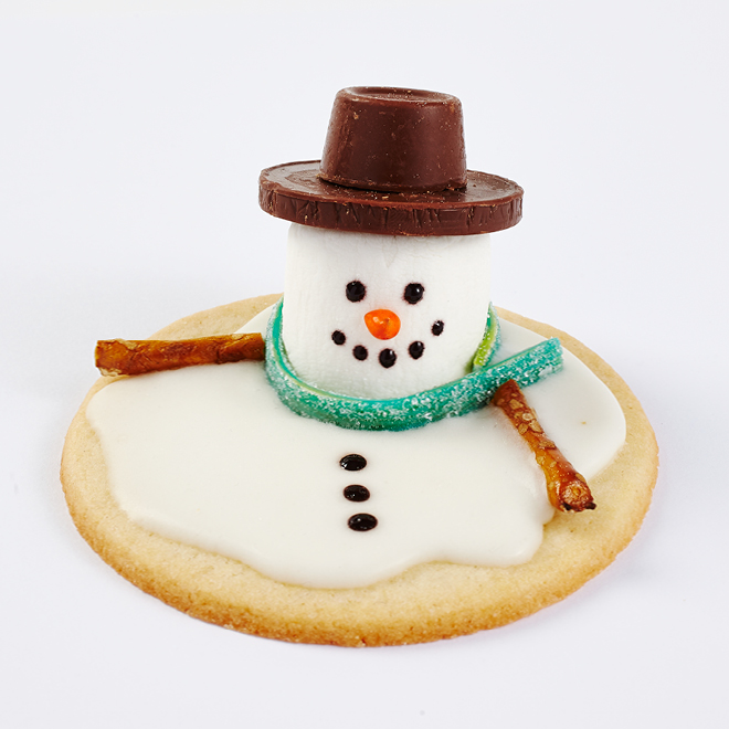 Melting Snowmen Sugar Cookies