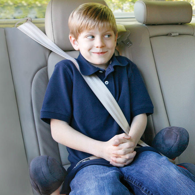 Kid Can Ride Without His Booster Seat