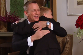 Young 007 fan meets Bond, James Bond—and it's so cute