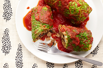 Turkey-Bulgur Cabbage Rolls