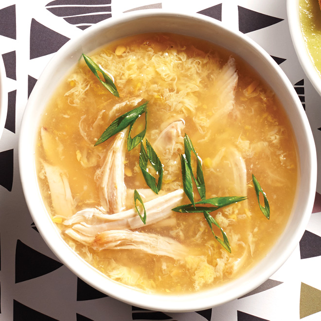 Chinese Chicken and Egg Drop Soup