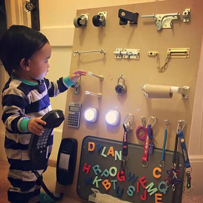 Genius Parenting Hackbusy Board To Entertain Your Toddler Todays