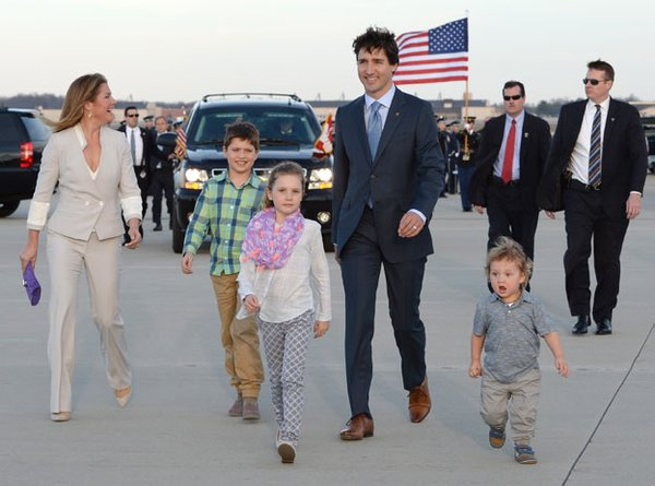 Sorry Justin and Sophie, but Hadrien is the coolest Trudeau