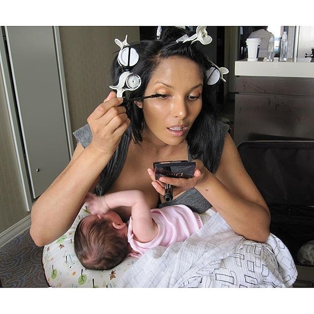 Celebrity breast feed