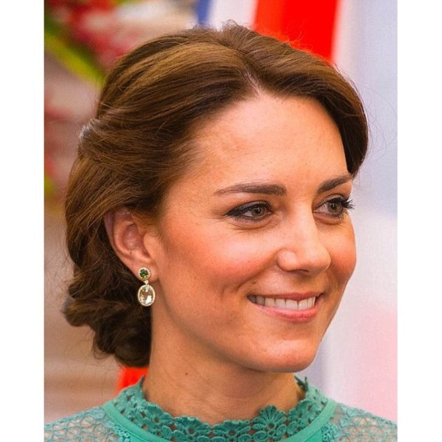 Kate Middleton Green Amethyst Earrings