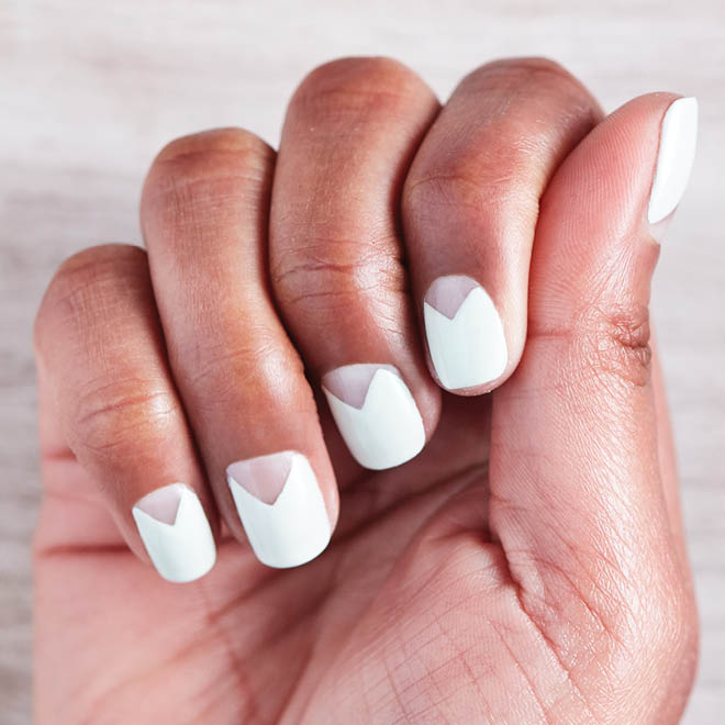 How to do triangle negative-space nails - Today\'s Parent