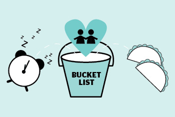 bucket list illustration