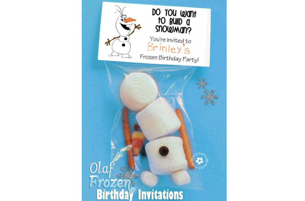 Make Your Own Frozen Invitations is awesome invitation ideas