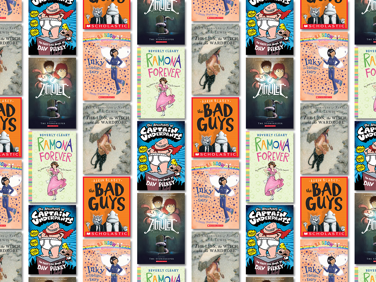 Collage of chapter book covers