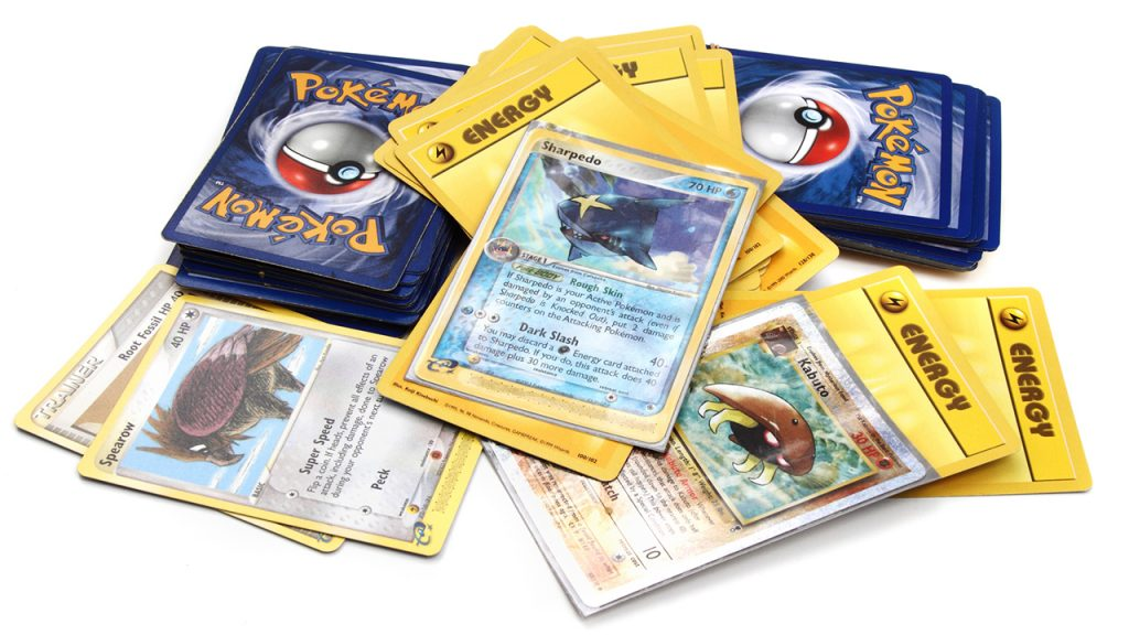 pile of pokemon trading cards