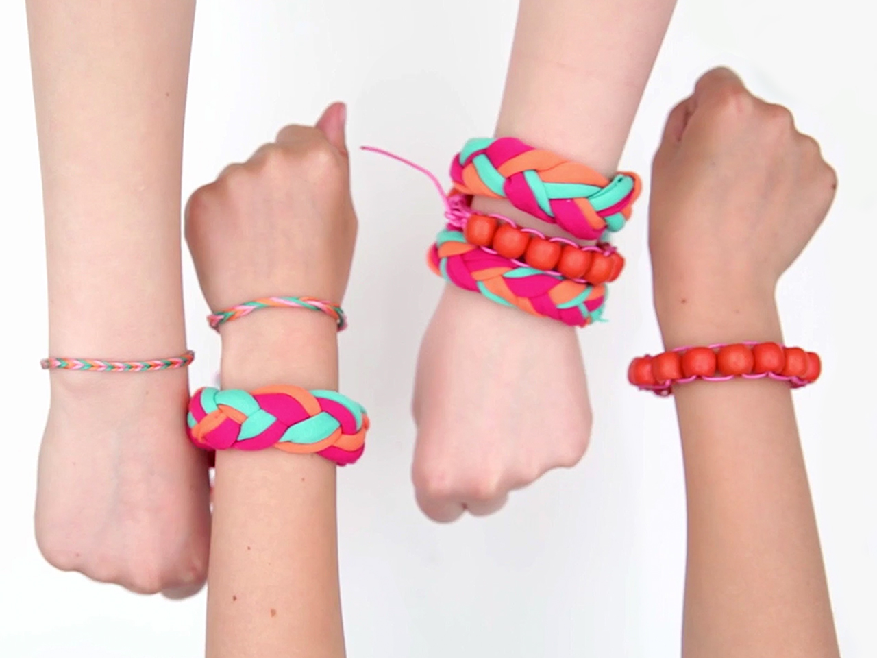 T-shirt Friendship Bracelets craft image. Follow the text below on how to make the craft.