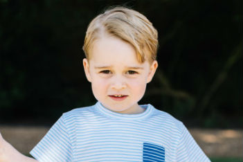 Prince George is three—and as cute as ever in new photos