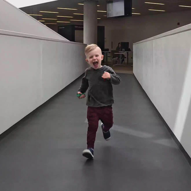 Child Running Away From Mom