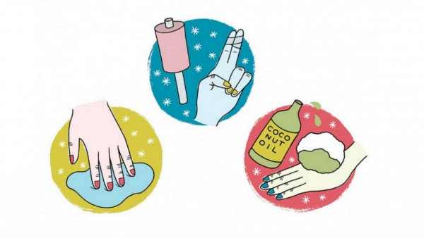 illustrations of cleaning glitter