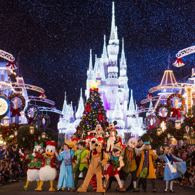 Mickey's Once Upon a Christmastime Parade. Photo: Ryan Wendler