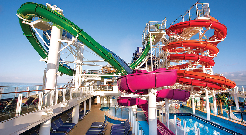 Best Family Cruises - Roller coaster on a cruise ship