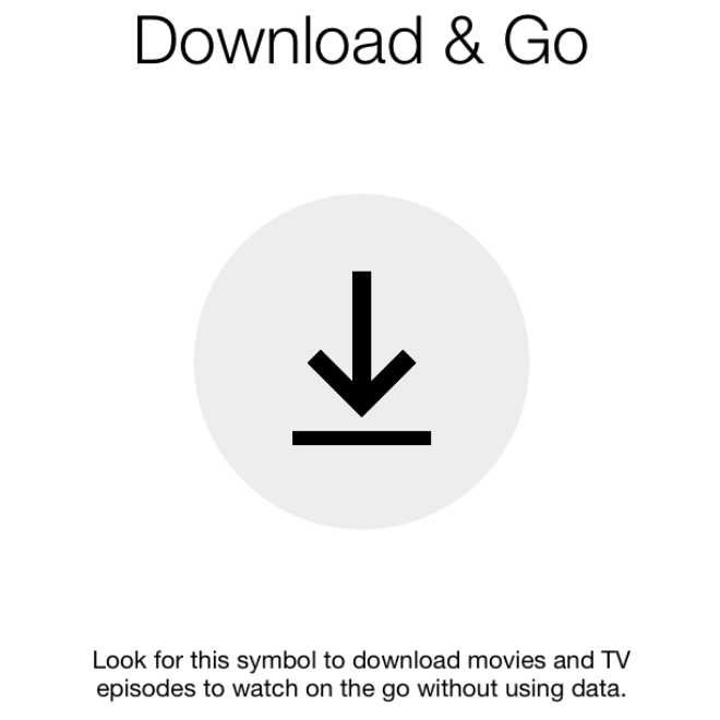 screenshot of Netflix's new download tool