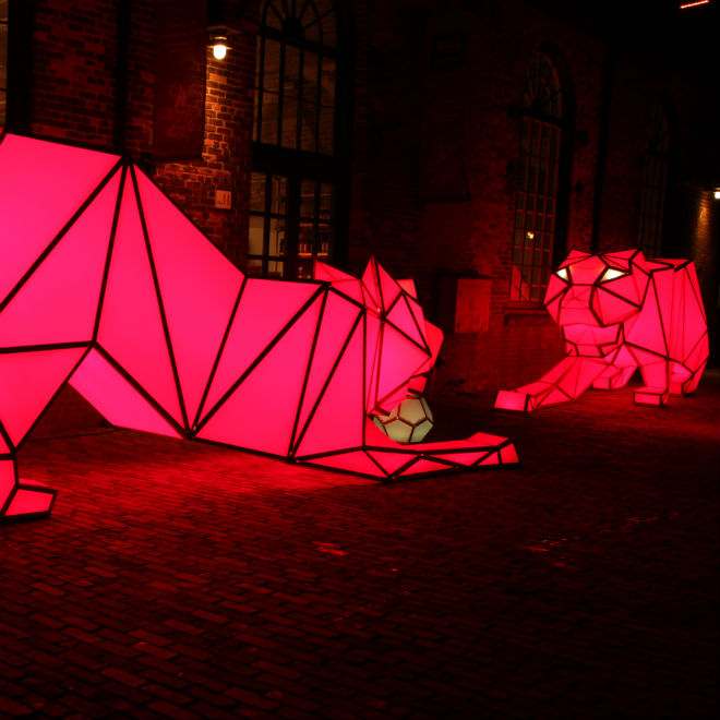 Artist: LAVA, Photo: Thane Lucas/Toronto Light Festival