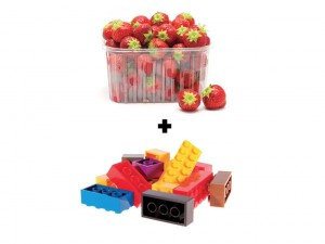 picture showing a basket of berries and legos
