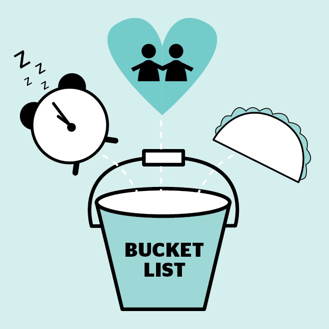 what to do before having a baby bucket list graphic